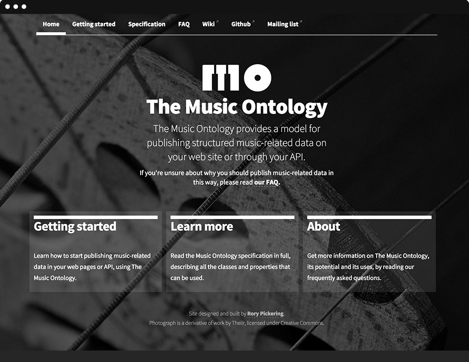 Music Ontology Homepage